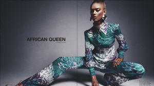 "16 Year Old White Girl Poses in ""African Queen"" editorial"